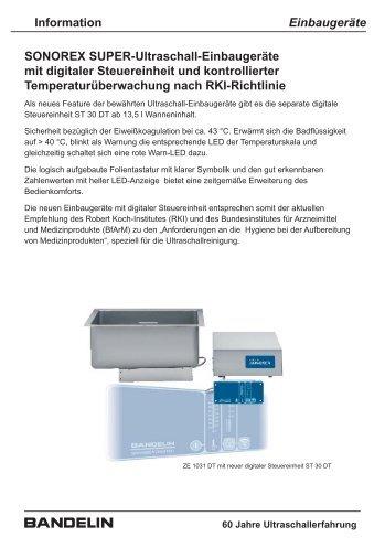 SONOREX Super-Ultraschall-Einbaugeräte ... - Bandelin electronic