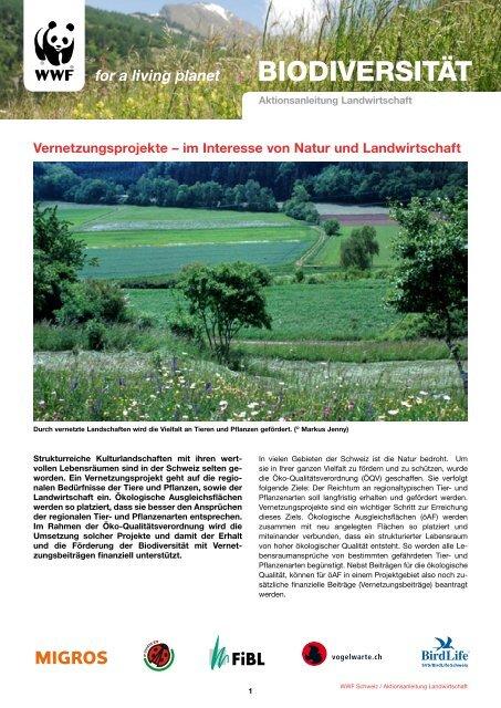 Vernetzungsprojekte - WWF Schweiz