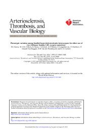 Phenotypic Variation Among Familial Hypercholesterolemics ...