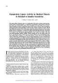 Lipoprotein Lipase Activity in Skeletal Muscle Is Related to Insulin ... - Page 2