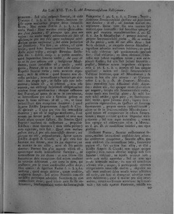 gruentett. Sed alio refpexit Senatus, id vidk Ulpiarrus /. &. §. 2. h. t ...