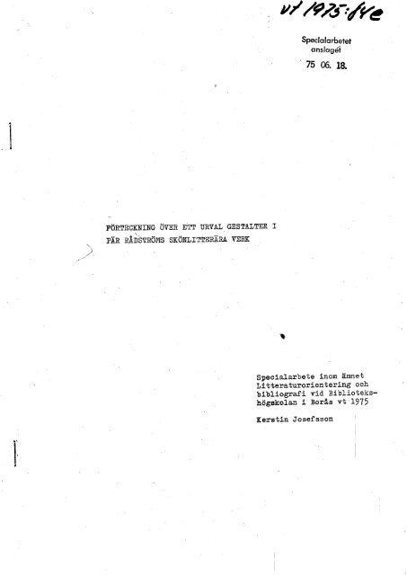 VT-75 nr 84.pdf - BADA - Högskolan i Borås