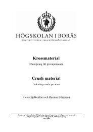 Bjelkenfors, Börjesson.pdf - BADA - Högskolan i Borås