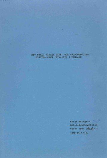 1981 nr 8.pdf - BADA - Högskolan i Borås