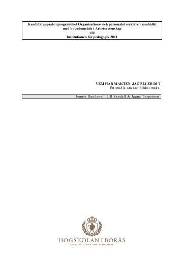 Kandidatuppsats i programmet Organisations - BADA - Högskolan i ...