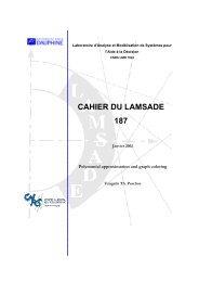 CAHIER DU LAMSADE 187 - Université Paris Dauphine