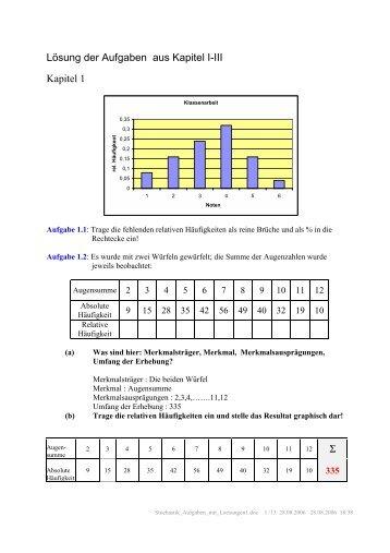 Aufgaben im Skript mit Lösungen 1