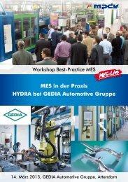 Workshops Best-Practice MES - MPDV Mikrolab GmbH