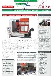Maschinen Verfahren Anwendungen Ausgabe 4 - matec