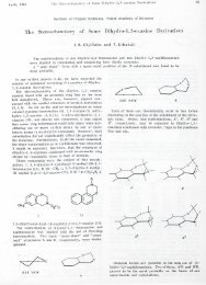 The Stereochemistry of Some Dihydro-1,3-oxazine Derivatives ...