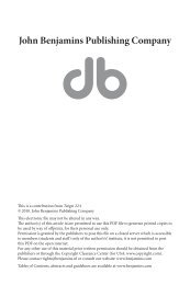 Book reviews - John Benjamins Publishing Company