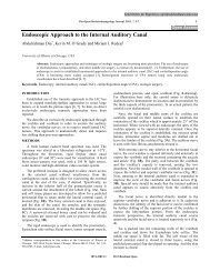 Endoscopic Approach to the Internal Auditory ... - Bentham Science