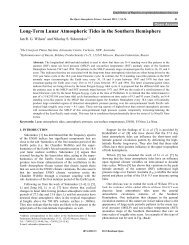 Long-Term Lunar Atmospheric Tides in the ... - Bentham Science