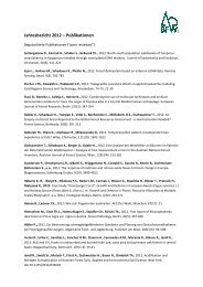 Langfassung Publikationen - BFW