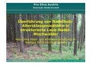 Pro Silva Austria Naturnahe Waldwirtschaft - BFW