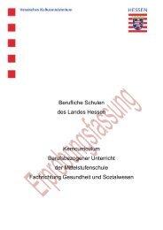 Fachrichtung Gesundheit und Sozialwesen - Berufliche Bildung in ...