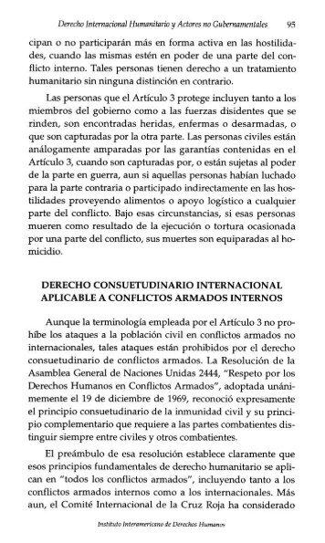 Derecho internacional humanitario y actores no gubernamentales ...