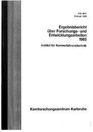 Ergebnisbericht über Forschungs- und ... - Bibliothek