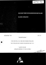 dezember 1960 kfk 43 bauabteilung die herstellung der ... - Bibliothek