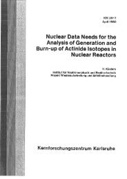 Nuclear Data Needs for the Analysis of Generation and ... - Bibliothek