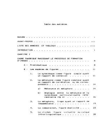 Table des matières LISTE DES ANNEXES ET TABLEAUX ... - UQAC