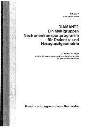 DIAMANT2 Ein Multigruppen ... - Bibliothek
