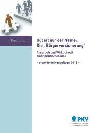 Langfassung (PDF) - PKV - Verband der privaten ...