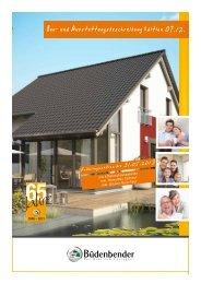 Baubeschreibung Edition 07.12. - Büdenbender Hausbau GmbH