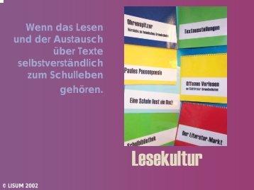 Lesekultur - Bildungsserver Berlin - Brandenburg