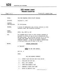 ~ PROGRAM LIBRARY PRlI-GRAM DESCRIPTION - Trailing-Edge
