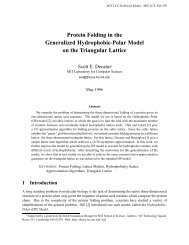 Protein Folding in the Generalized Hydrophobic ... - Trailing-Edge