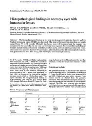 Histopathological findings in necropsy eyes with intraocular lenses