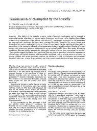 Transmission of chlamydiae by the housefly - British Journal of ...