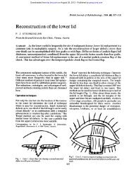 Reconstruction of the lower lid - British Journal of Ophthalmology