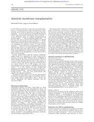 Amniotic membrane transplantation