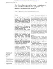 Correlation between surface water contamination with amoeba and ...