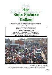 Sinte-Pieterke 2012 02 Voorstelling Oldtimershow ... - Bloggen.be