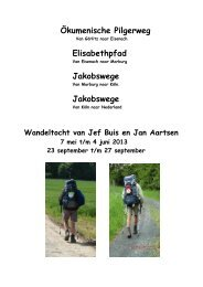 Ökumenische Pilgerweg Elisabethpfad Jakobswege ... - SeniorenNet