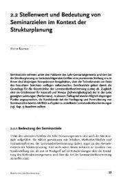 2.2 Stellenwert und Bedeutung von Seminarzielen im Kontext der ...