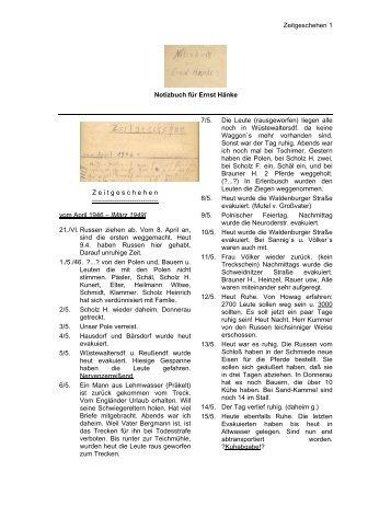 Zeitgeschehen 1 Notizbuch für Ernst Hänke Z ... - Böhm-Chronik