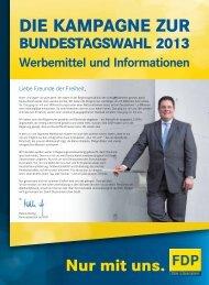 Werbemittelkatalog - FDP