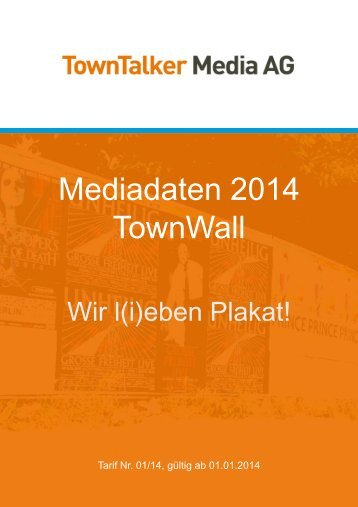 Mediadaten 2014 TownWall - TownTalker