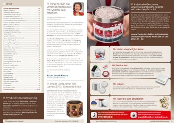 Firmenkunden-Katalog - Lebkuchen Schmidt