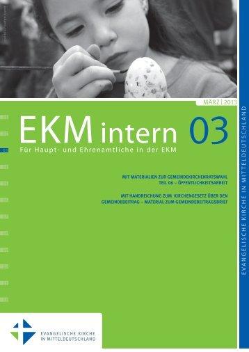 EKMintern_03_2013 - Evangelische Kirche in Mitteldeutschland