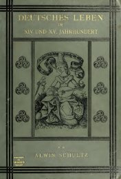 Deutsches Leben im XIV und XV Jahrhundert
