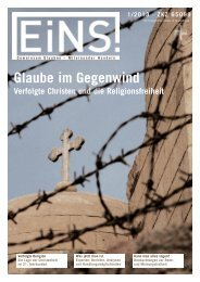 EINS-Magazin 1/2013 - Deutsche Evangelische Allianz