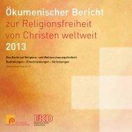 Ökumenischer Bericht zur Religionsfreiheit - Evangelische Kirche in ...