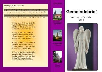 Gemeindebrief - Ev.-luth. Kirchengemeinde Kirchtimke