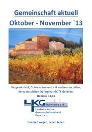 Gemeinschaft aktuell Oktober November 2013 - Landeskirchlicher ...