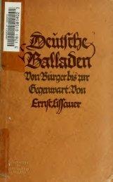 Deutsche Balladen von Bürger bis zur Gegenwart